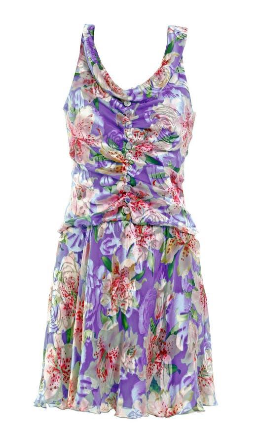 violette en soie de fleur bleue de robe image libre de droits