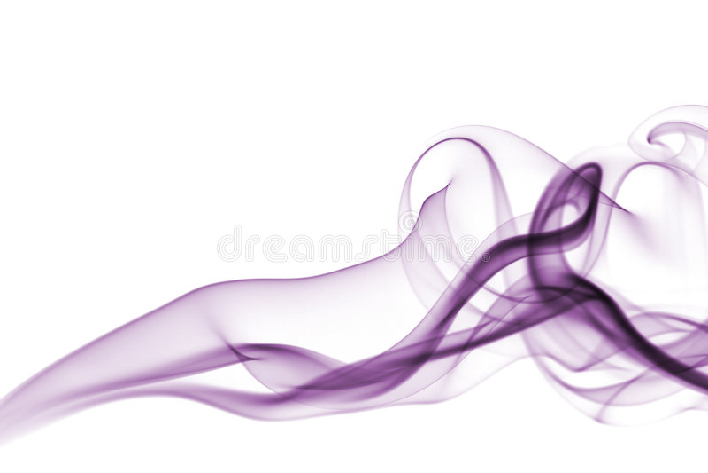 Violette geïsoleerdeX rook royalty-vrije stock foto's