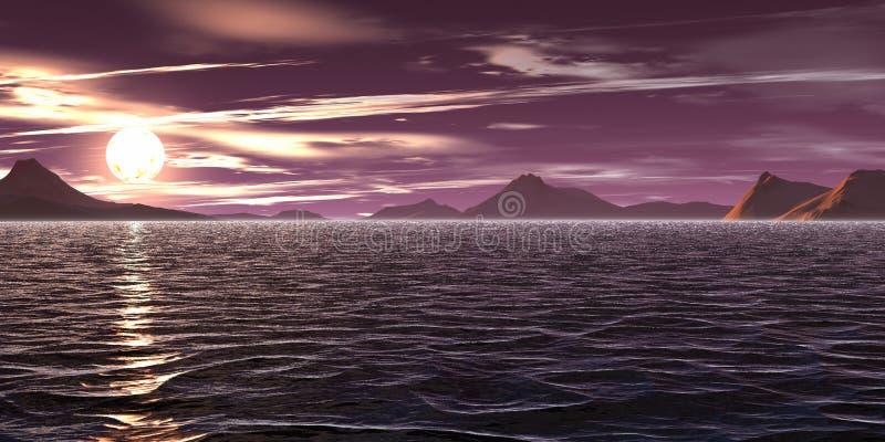 Violette hemel royalty-vrije illustratie