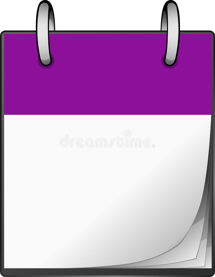 Violette Kalender stock illustratie