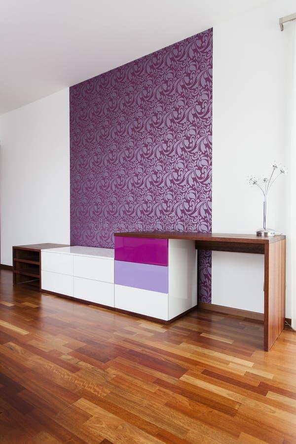 Violette muur stock afbeelding