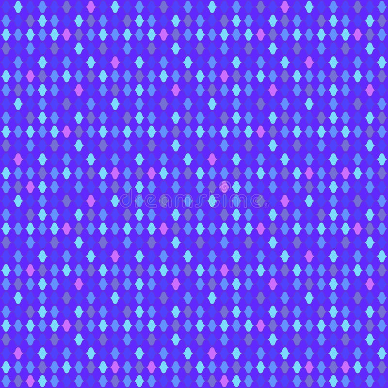 Violette naadloze achtergrond met mozaïek het gloeien lichten vector illustratie