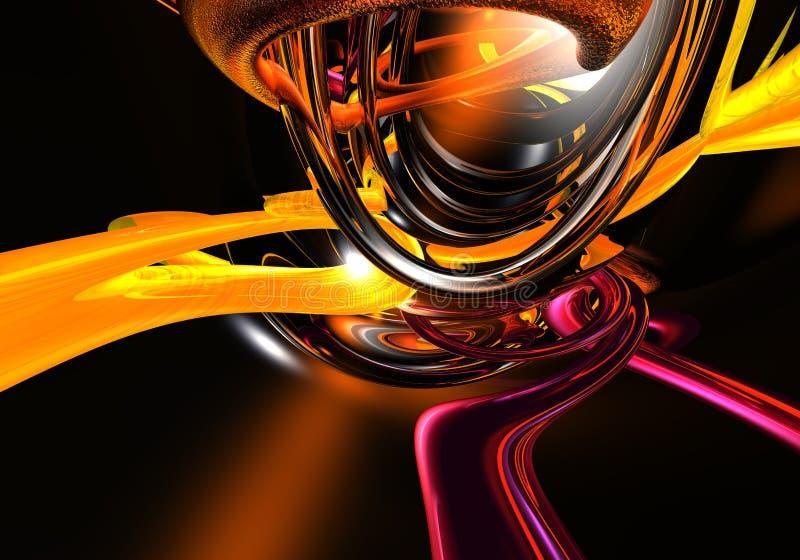 violette przewodów pomarańczowe ilustracji