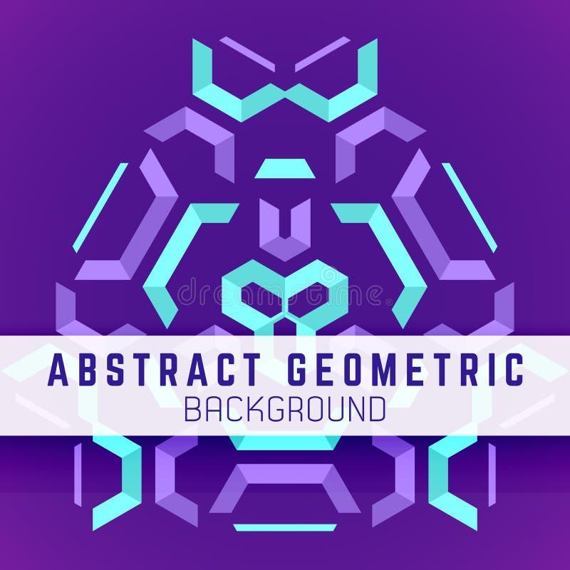 Violette purpere blauwe abstracte geometrische achtergrond vector illustratie