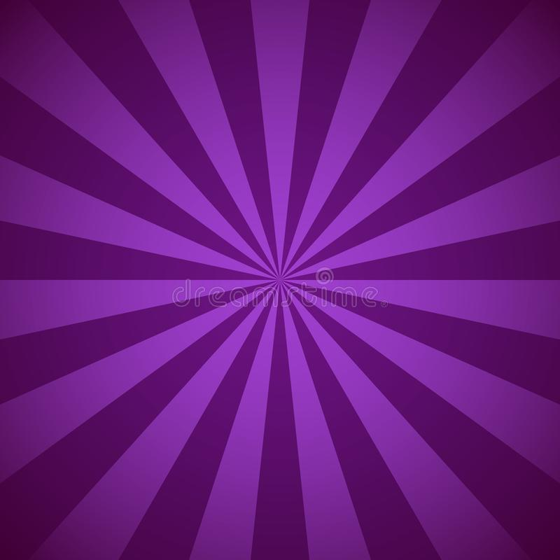 Violette radiale stralen en stralen abstracte lijnenachtergrond royalty-vrije illustratie