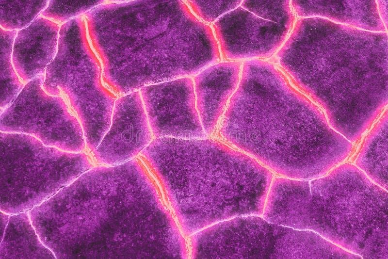 Violette Retro- Magmafeuerlava stockbilder