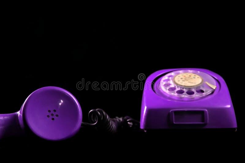 Violette telefoon royalty-vrije stock foto