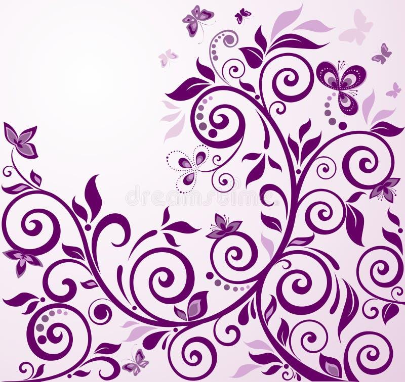 Download Violette Uitstekende Bloemenkaart Vector Illustratie - Illustratie bestaande uit ornate, ontwerp: 54079842