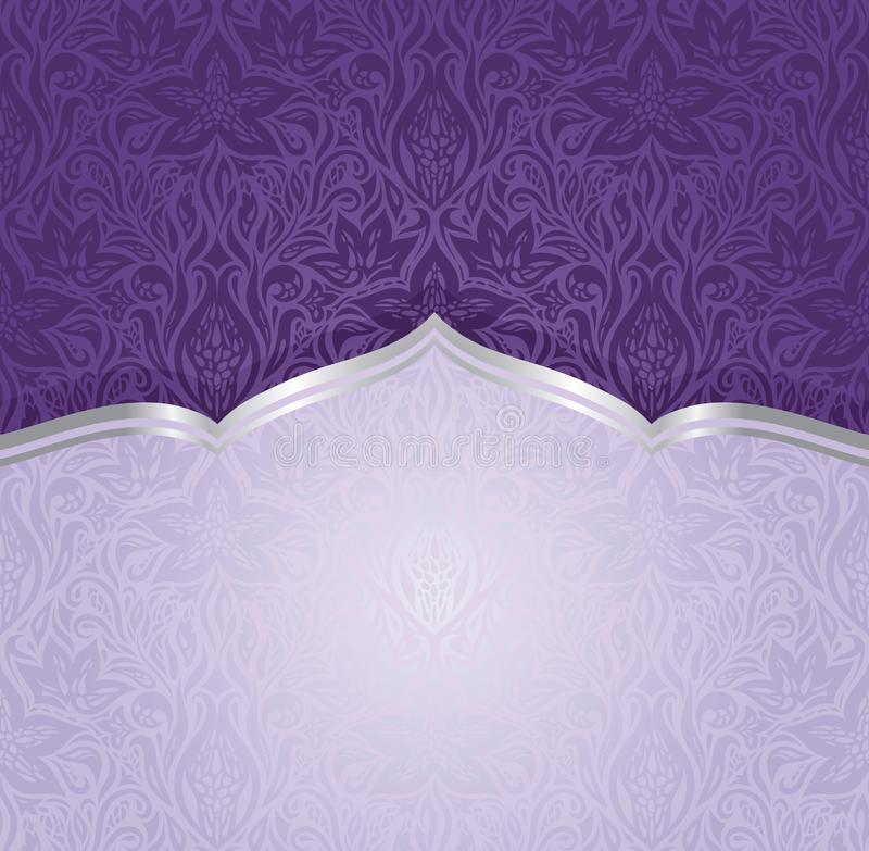 Violette uitstekende het exemplaarruimte van het uitnodigingsontwerp royalty-vrije illustratie