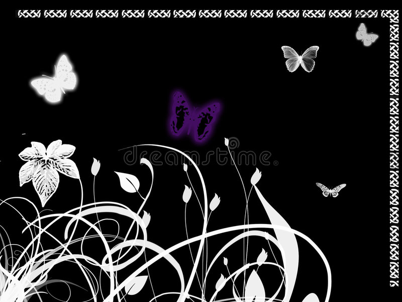 Violette vlinder vector illustratie