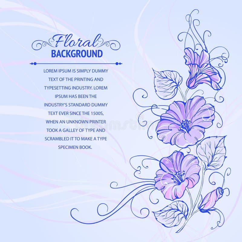 Violette winde vector illustratie