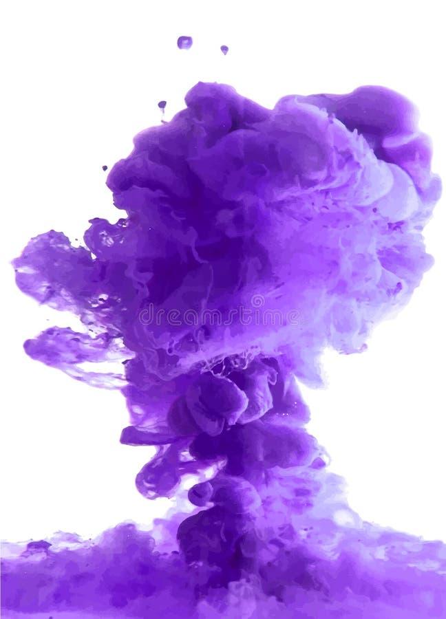 Violette wolk van inkt stock illustratie