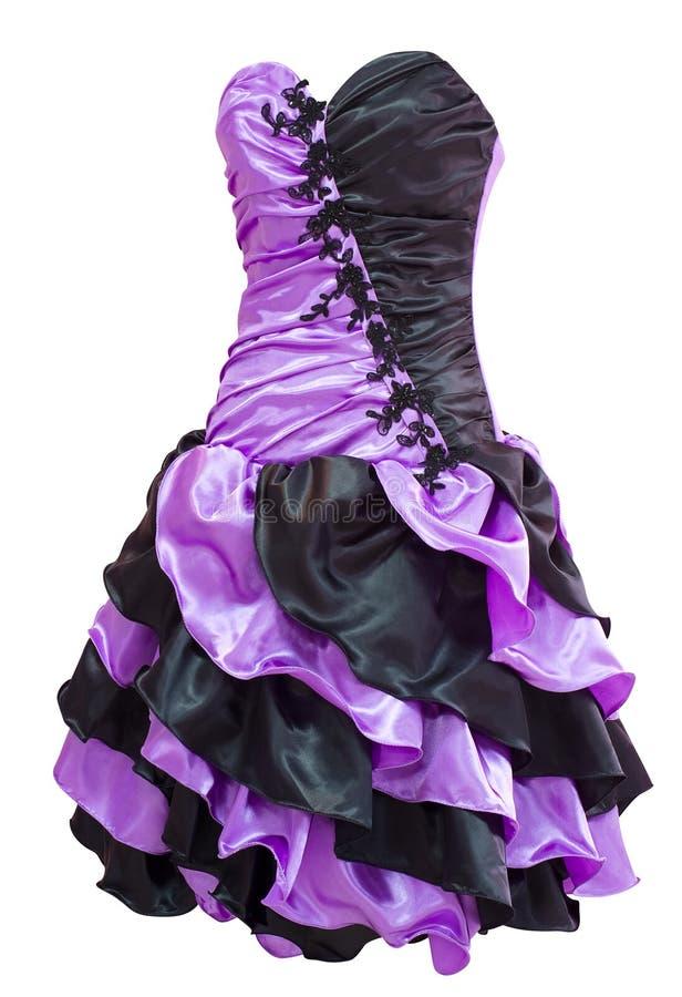 Violette zwarte de cocktailkleding van dames royalty-vrije stock foto