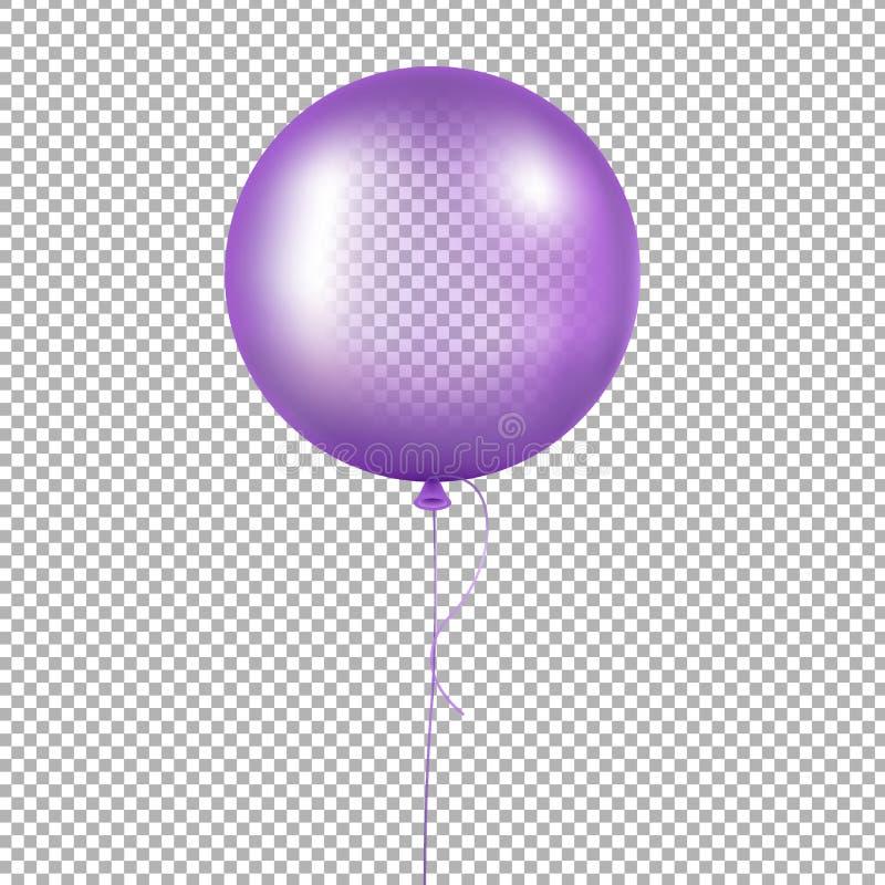 Violetter Ballon vektor abbildung