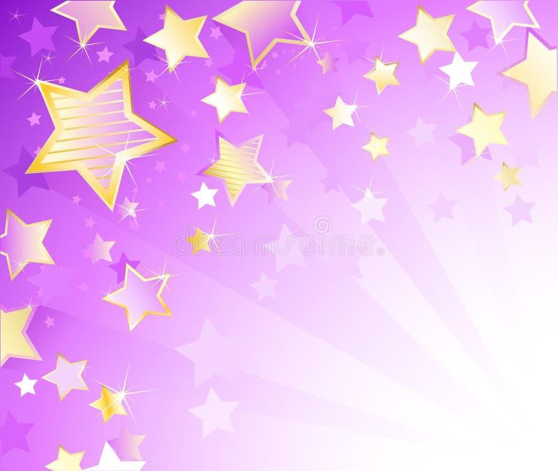 Violetter Hintergrund mit Sternen lizenzfreie abbildung