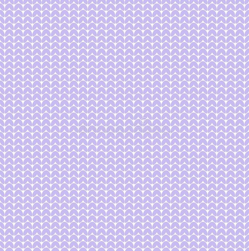 Violetter Lavendelpastellvektor strickte Herzstrickjackenbeschaffenheits-Muster bakground vektor abbildung