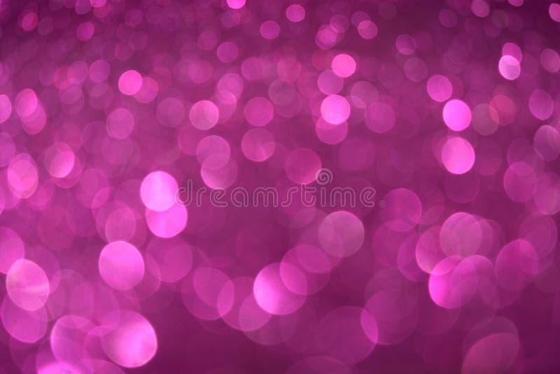 Violetter rosa Funkelnhintergrund Weihnachtsneues Jahr-Valentine Days Abstraktes Beschaffenheitsgewebe des Feiertags Element, Bli stock abbildung