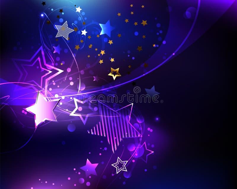 Violetter Stern auf abstraktem Hintergrund stock abbildung