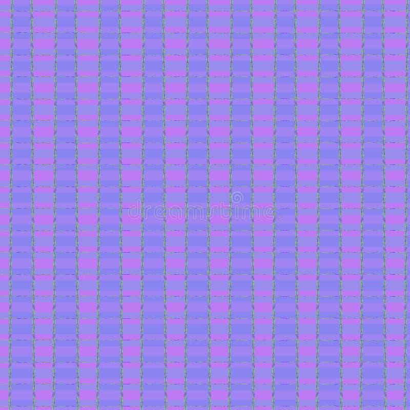 Violetter und blauer Babyhintergrund, nettes ununterbrochenes Ginghammuster lizenzfreie abbildung