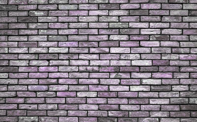 Violetter und grauer Schmutz Backsteinmauer-Beschaffenheitsabschluß oben stockfotos