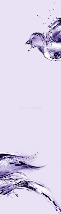 Violetter Wasser-Vogel-Auszug stockfotos