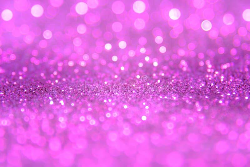 Violettes oder purpurrotes bokeh Licht ist die Weiche unscharfen Kreise von ligh lizenzfreies stockfoto