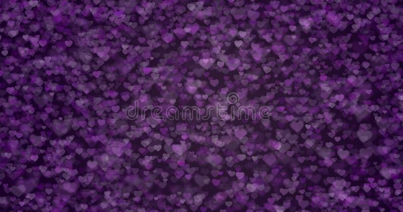 Violettes Purpur des Beschaffenheits-Herzens lizenzfreie stockfotos