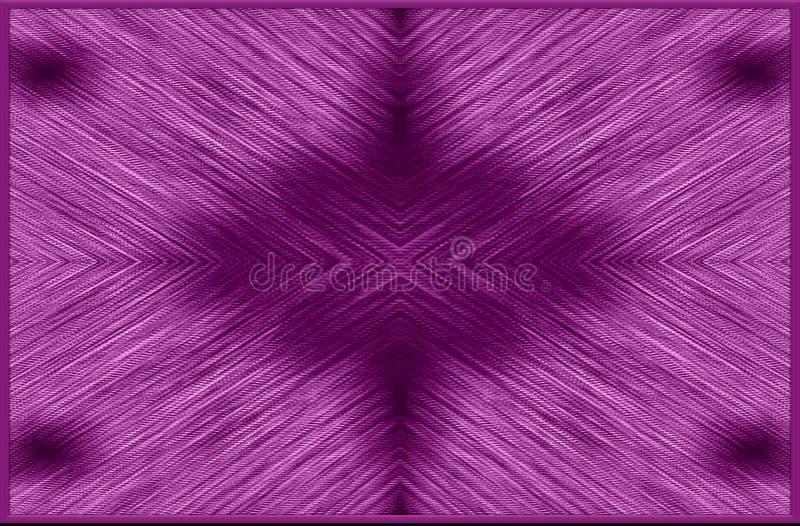 Violettes, schwarzes Farbmuster von unscharfen Streifen in einem Rahmen Autor ` s Design vektor abbildung