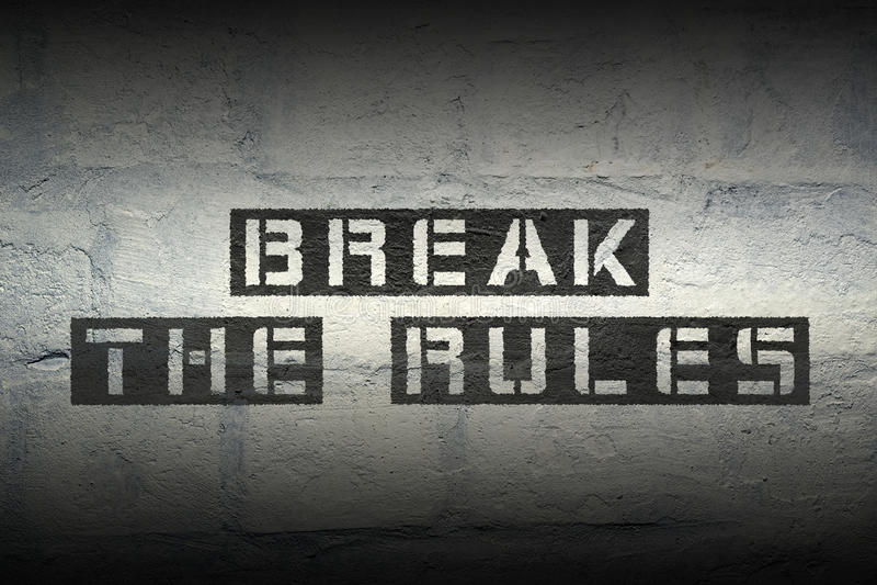 Violez les règles image stock