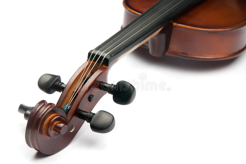 Violin. Isolated on white, music royalty free stock photos