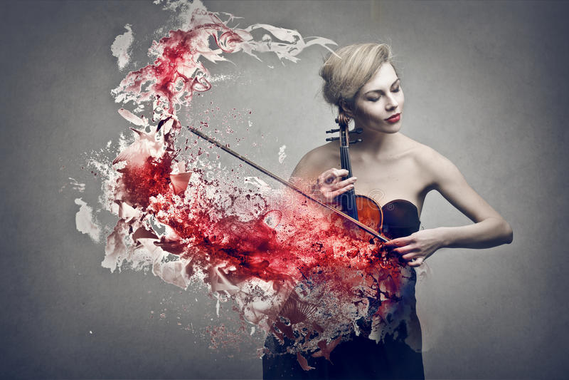 Violin stock illustration