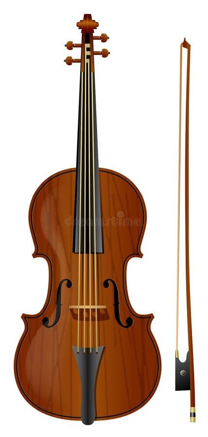 Violin1 库存例证
