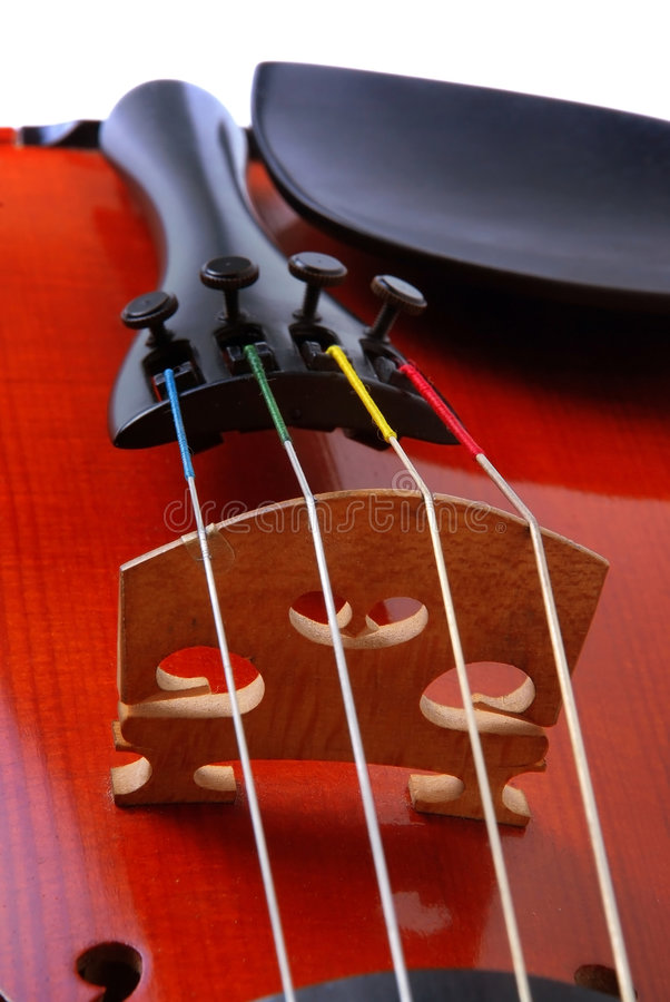 Violin. Part view of srting royalty free stock photos