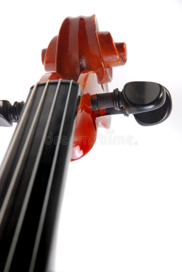 Violin. Part handle and string stock image