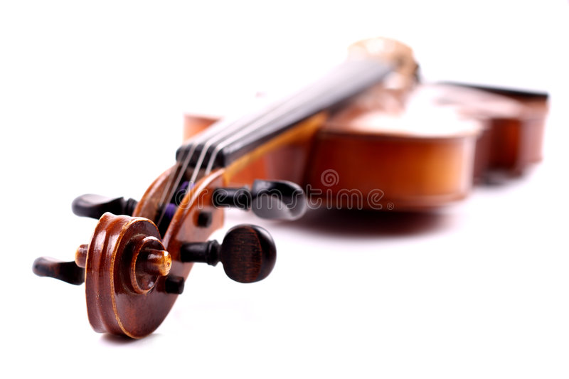 Violin. Old and antique classical instrument named violin stock image