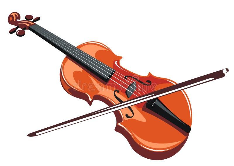 Violin royalty free illustration