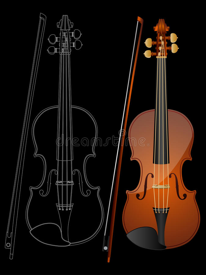 Download Violin stock vector. Image of viola, fiddle, country, entertainment - 9404355