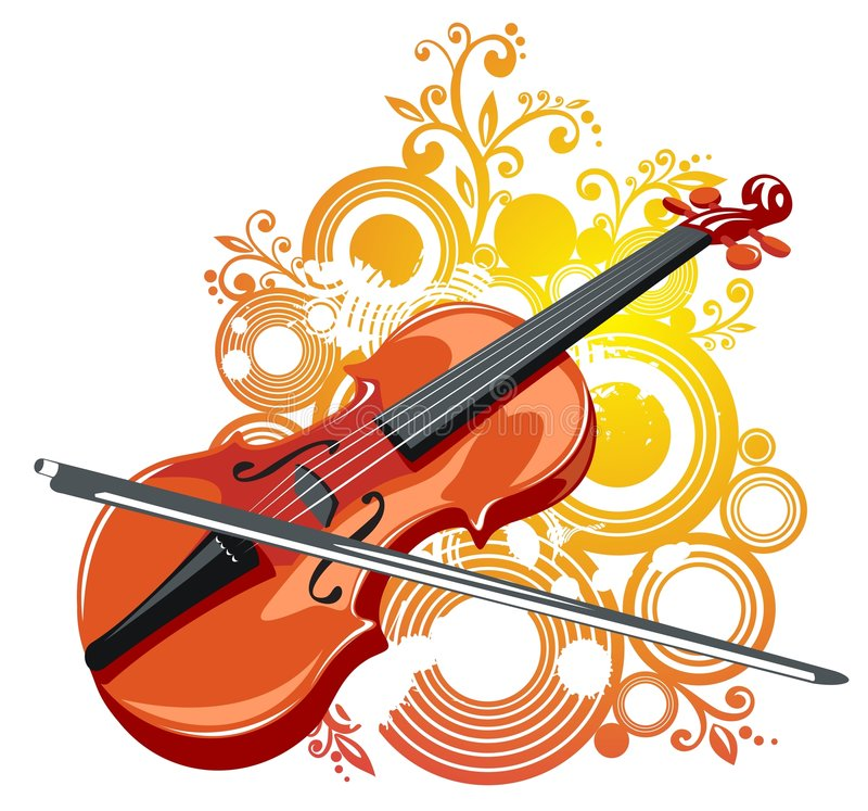 Free Violin And Abstract Pattern Stock Photo - 7627310