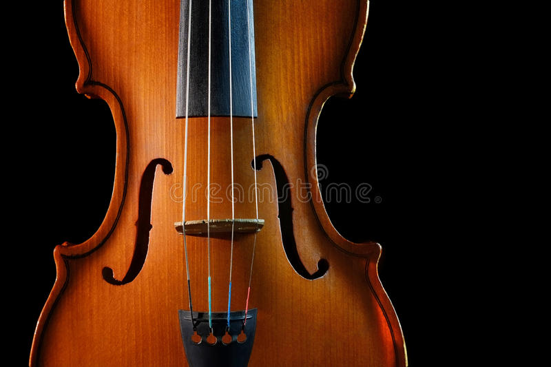 Violin. On a black background royalty free stock images