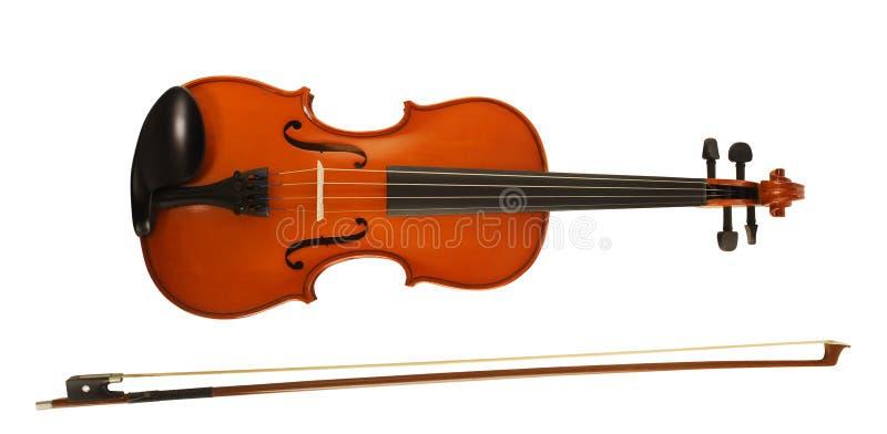 Violin & bow royalty free stock image