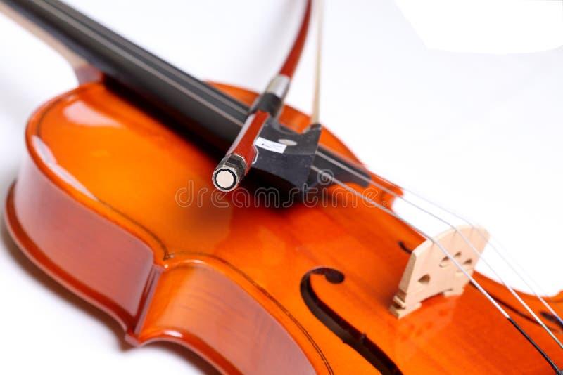 Violin and bow royalty free stock photos