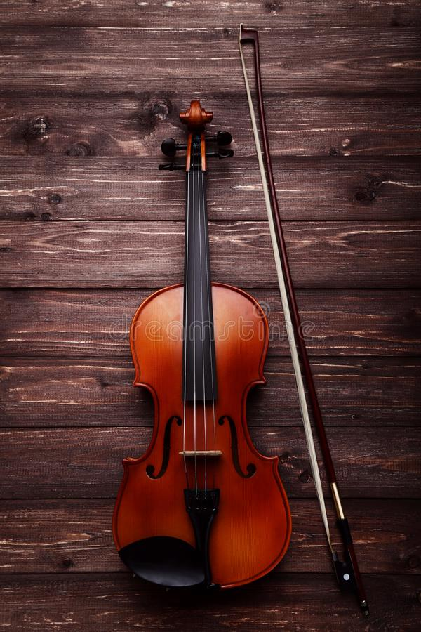 Violin with bow stock photography