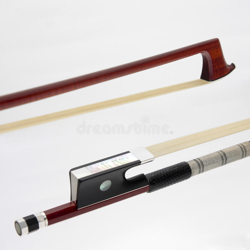 Violin bow stock photos