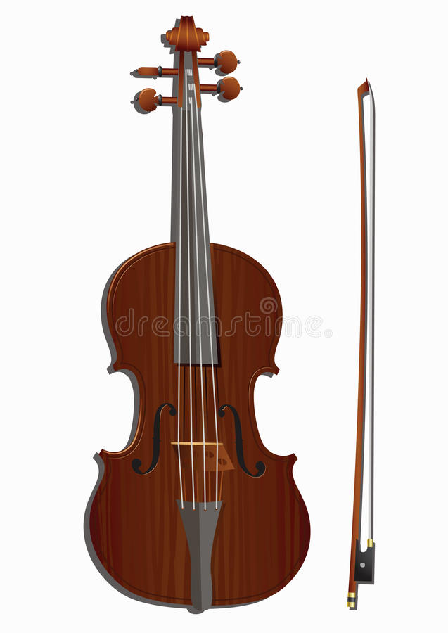 Download Violin and bow stock photo. Image of violin, fiddle, white - 31627064