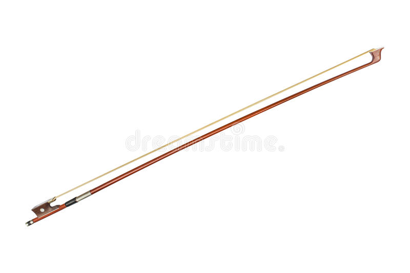 Violin bow on white background royalty free stock photography