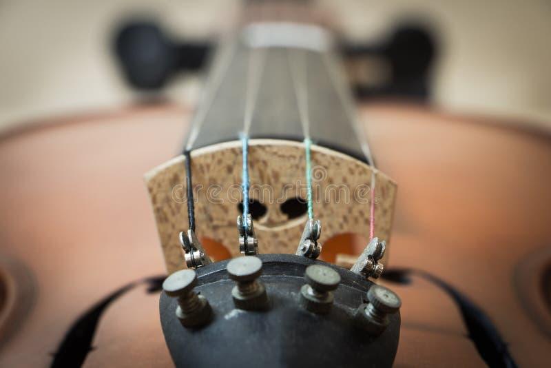 Violin bridge. Closeup image of violin bridge (Dept of field stock images