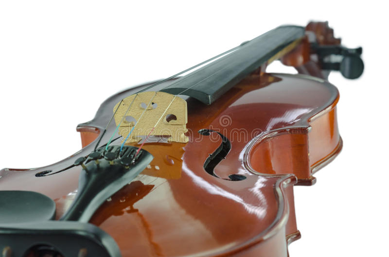 The violin bridge closeup royalty free stock photos