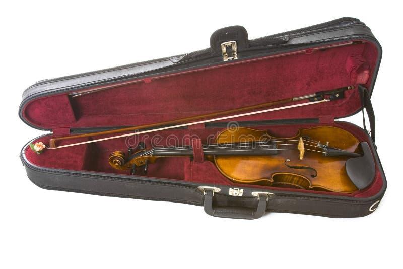 Violin in case stock image