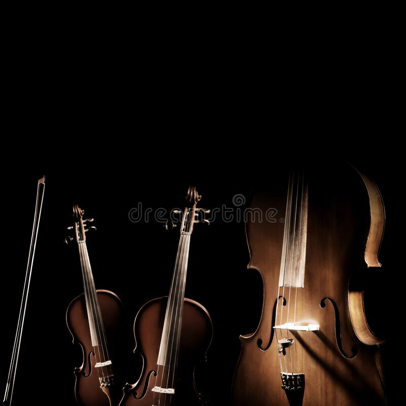 Free Violin Cello. Ensemble Of String Instruments Royalty Free Stock Photo - 209618405