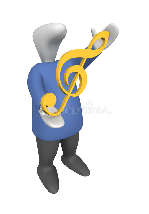 Violin clef royalty free stock photography